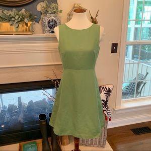 J Crew Moss Green A Line Dress - EUC
